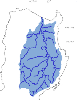 The Cagayan River and its tributaries on Luzon, Philippines. Gaddang homelands are in the lower-left quadrant.